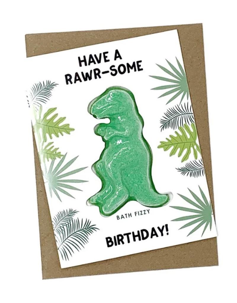 Feeling Smitten Bath Bakery Have a Rawr-some Birthday! Bath Card