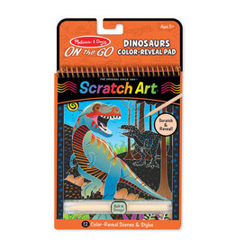 Melissa & Doug Dinosaurs Color-Reveal Scratch Art Pad