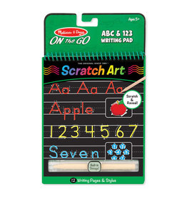 Melissa & Doug ABC & 123 Color-Reveal Scratch Art Pad