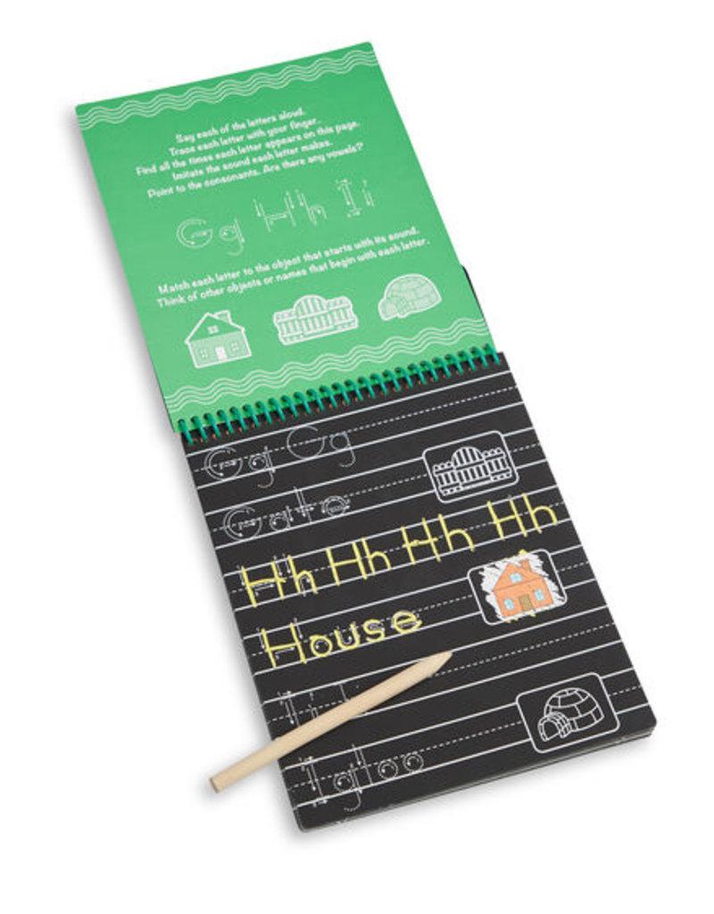 Melissa & Doug ABC & 123 Color-Reveal Scratch Art Pad