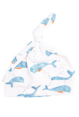 Angel Dear Cutey Whale Blue Knotted Hat 0/3M