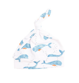 Angel Dear Cutey Whale Knotted Hat 0/3M