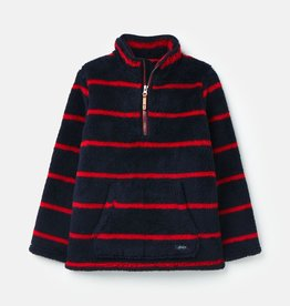 Joules Woozle Fleece Navy/Red Stripe 9/10