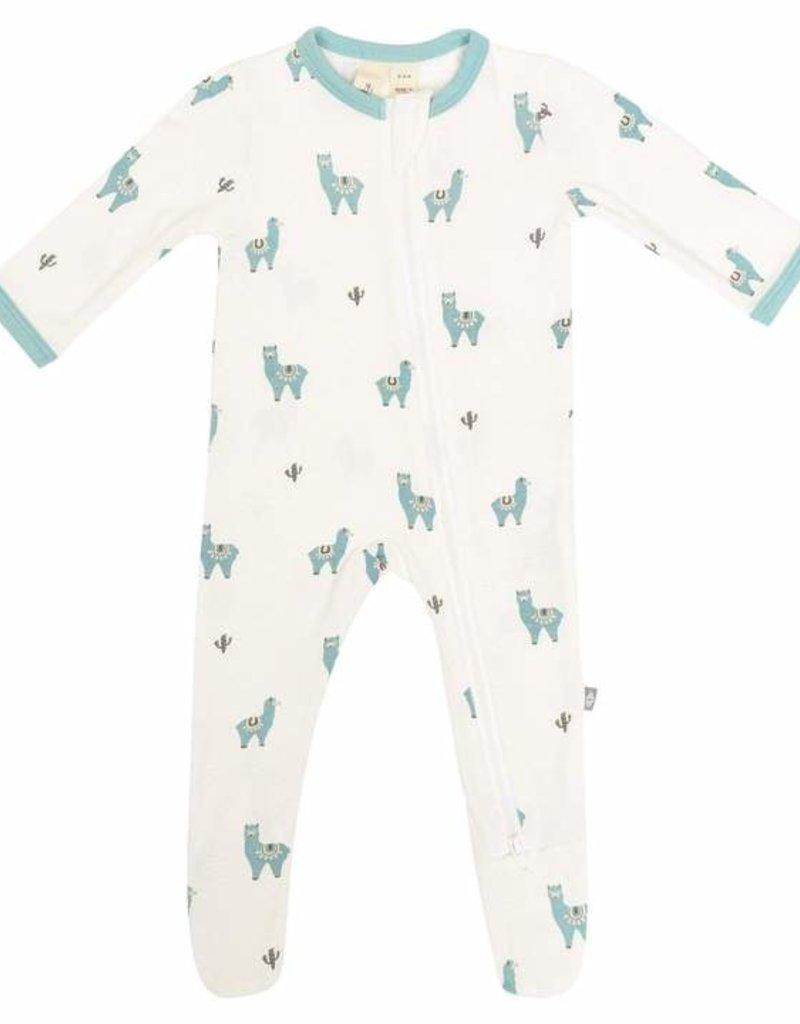 Kyte Baby Printed Zipper Footie  Alpaca