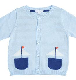 Angel Dear Boats Knit Cardigan 0/3M-18/24M