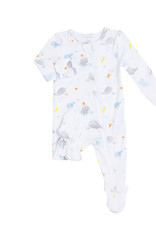 Angel Dear Baby Shark White Zipper Footie