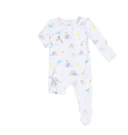 Angel Dear Baby Shark White Zipper Footie NB-6/9M