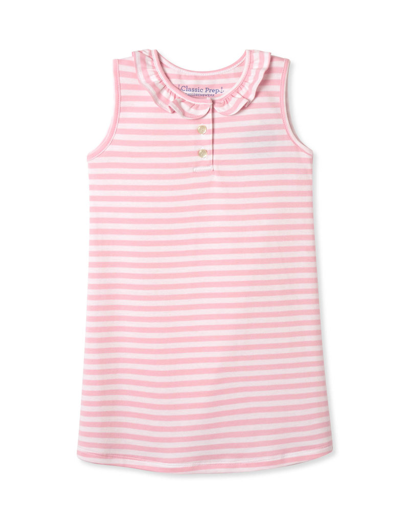 Classic Prep Zoe Sleeveless Dress Lilly's Pink/White
