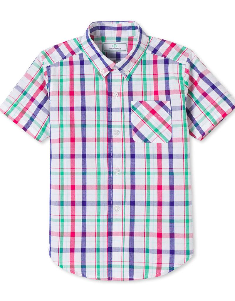 Classic Prep Owen S/S Shirt Sherbert Plaid