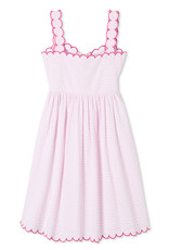 Classic Prep Quinn Dress Lilly's Pink/White Raspberry Scallop