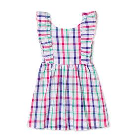 Classic Prep Coco Dress Sherbert Plaid w/Ric Rac