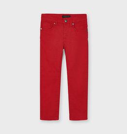 Mayoral Slim Fit Serge Pants Red 2-9