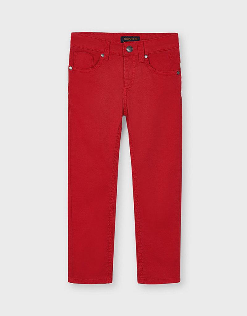 Mayoral Slim Fit Serge Pants Red