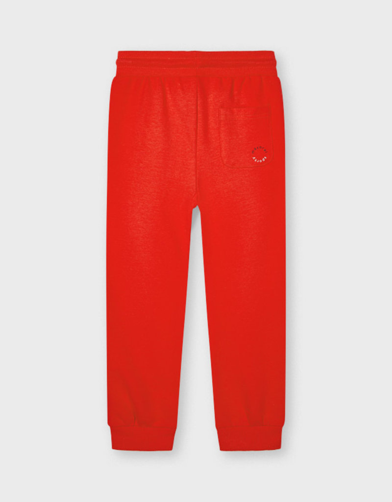 Mayoral Cuffed Fleece Trousers Cyber Red