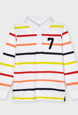 Mayoral L/S Striped Polo Apricot