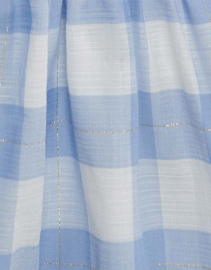 Mayoral Plaid Dress Light Blue