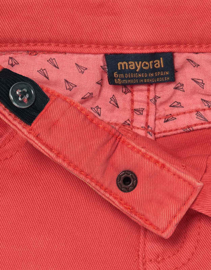Mayoral Cyber Red Twill Pants