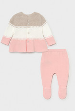 Mayoral Knit Footed 2pc Set Candy