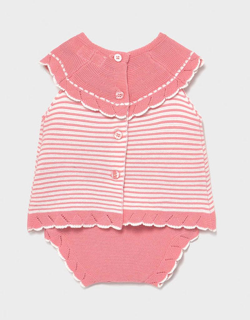 Mayoral Short Tricot Set Pink