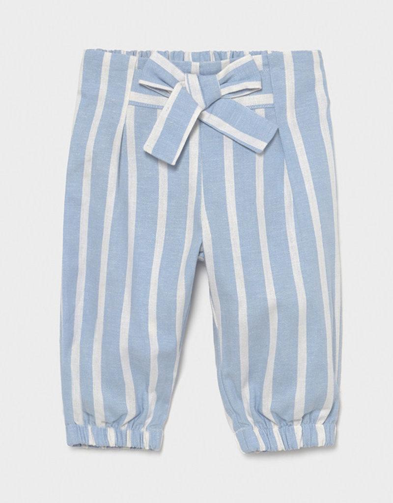 Mayoral Striped Loose Pants Sky