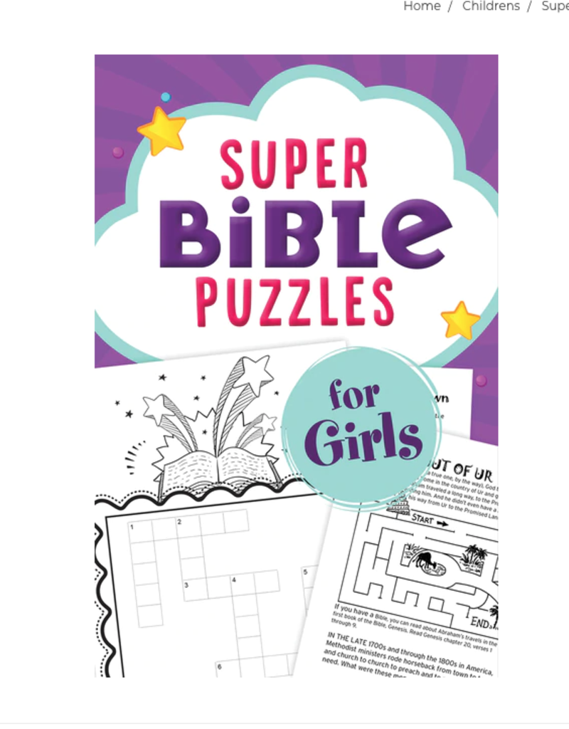 Barbour Publishing Super Bible Puzzles for Girls