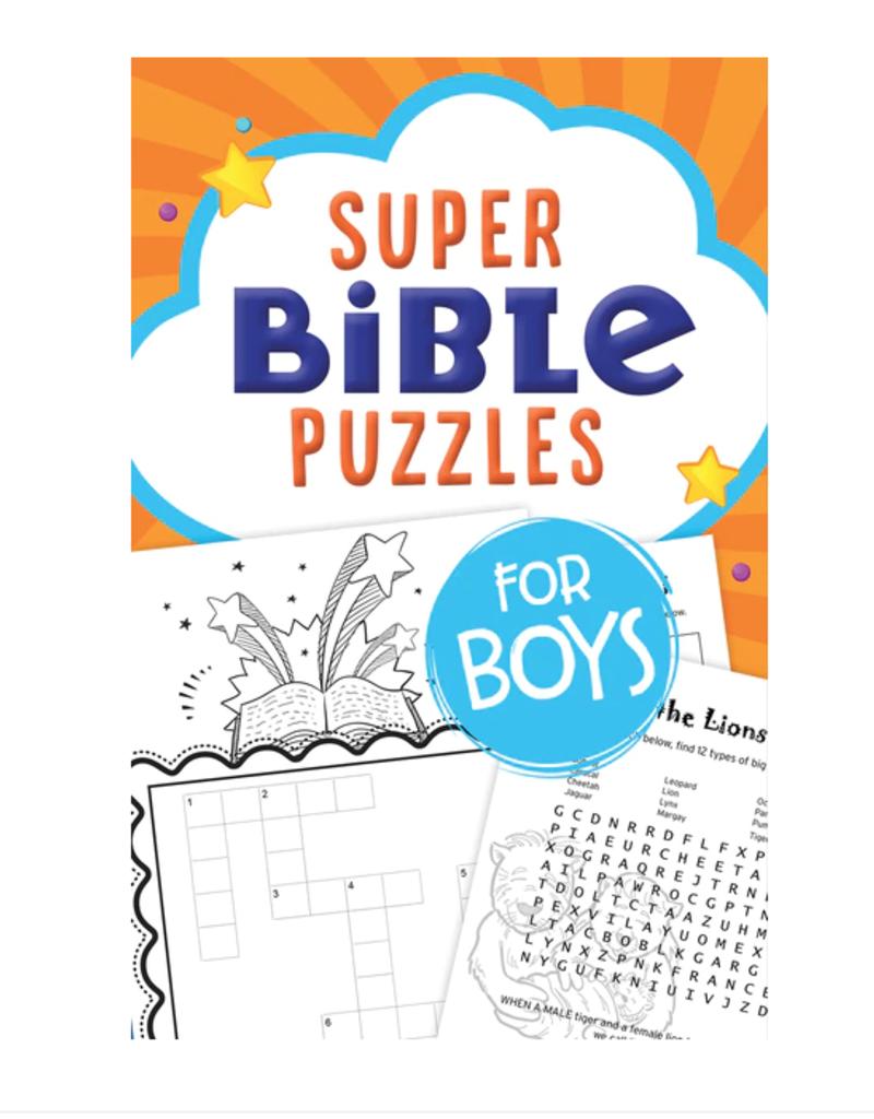 Barbour Publishing Super Bible Puzzles for Boys