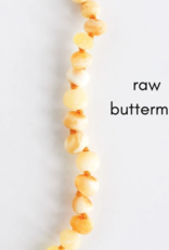 Careha + Co. Amber Teething Necklace  Raw Buttermilk