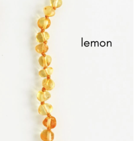 Careha + Co. Amber Teething Necklace  Lemon