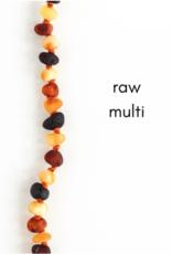 Careha + Co. Amber Teething Necklace  Raw Multi