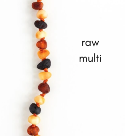 Careha + Co. Amber Teething Necklace  Raw Multi