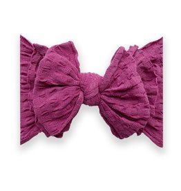 Baby Bling Bow Waffle Fab Raspberry