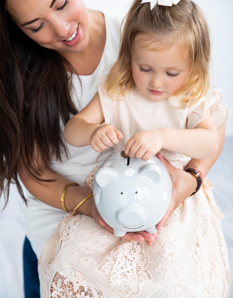 Polka Dot  Piggy Bank Blue