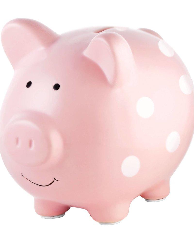 Polka Dot  Piggy Bank Pink