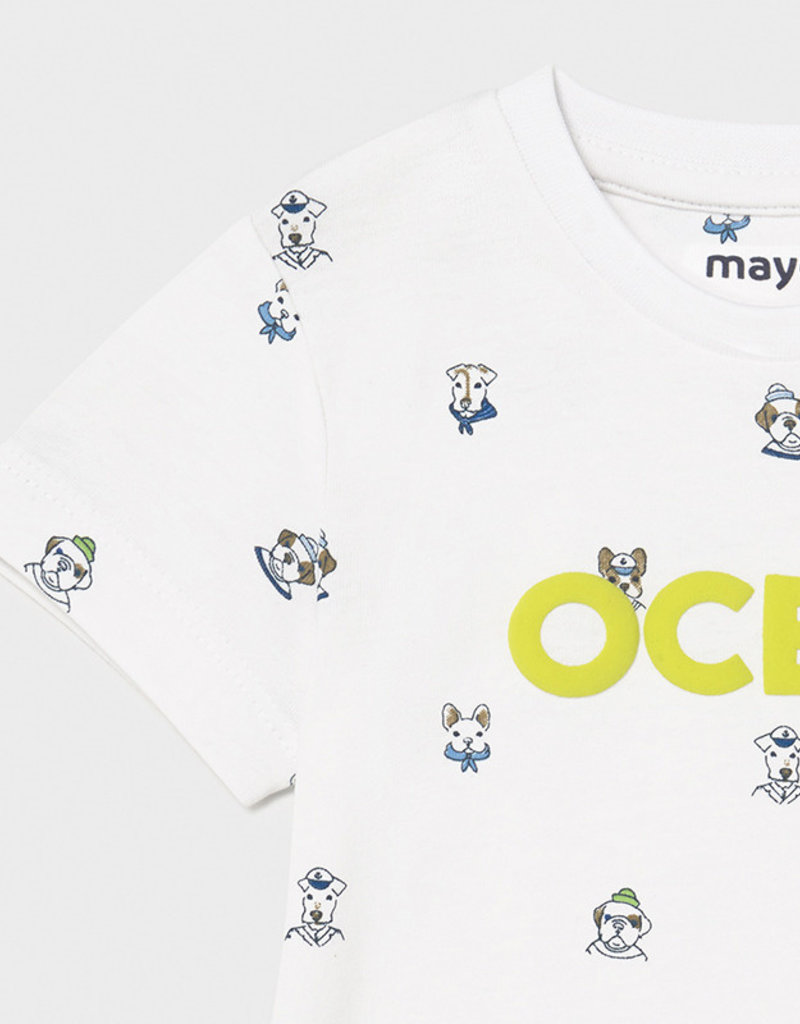 Mayoral S/S Ocean T Shirt 2pc Set