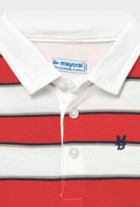 Mayoral L/S Striped Polo Cyber Red