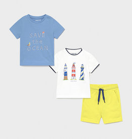 Mayoral 3 pc Short Set Ocean