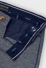 Mayoral Tailored Linen Shorts Navy