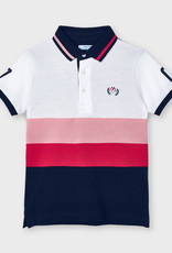 Mayoral S/S Polo Cyber Red Stripe