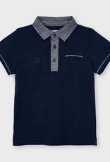 Mayoral S/S Tailored Polo Navy