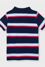 Mayoral Navy Striped S/S Polo