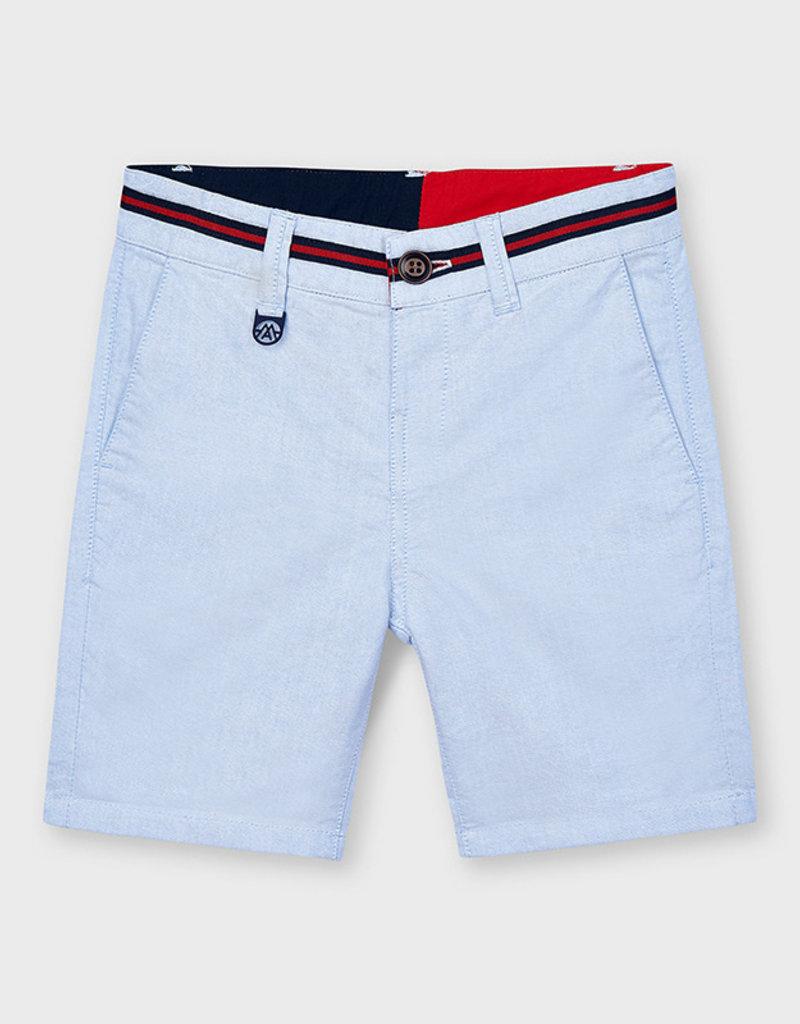 Mayoral Oxford Shorts Lt Blue