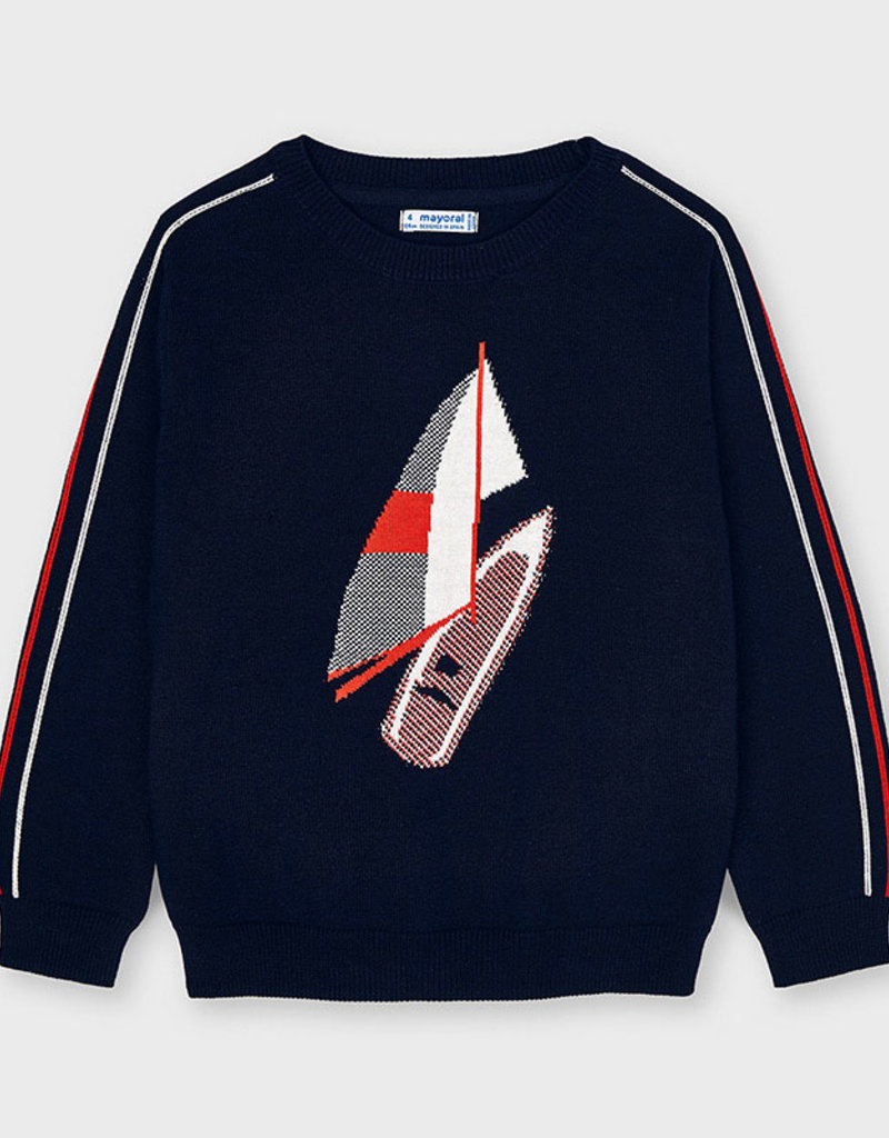 Mayoral Navy Boating Sweater