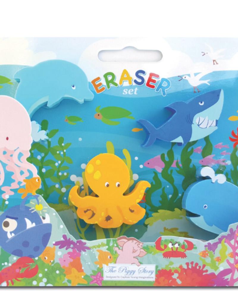 Eraser Set Under the Sea