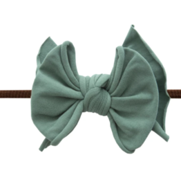 Baby Bling Bow Fab-Bow-Lous Skinny Brown/Fern