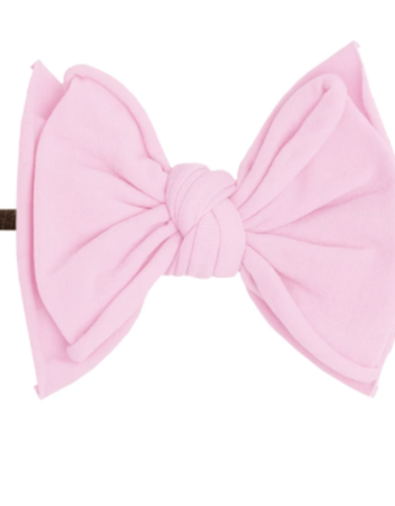 Baby Bling Bow Fab-Bow-Lous Skinny Brown/Pink