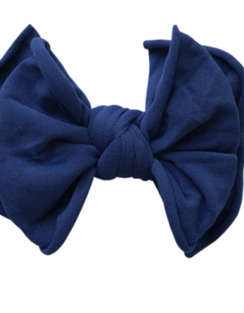 Baby Bling Bow Fab-Bow-Lous Skinny Brown/Navy