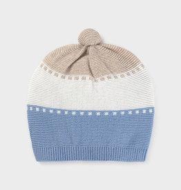Mayoral Ecofriends Knit Hat Sky Blue NB, 3/6M