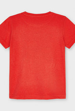 Mayoral S/S Tee w/Flags Cyber Red