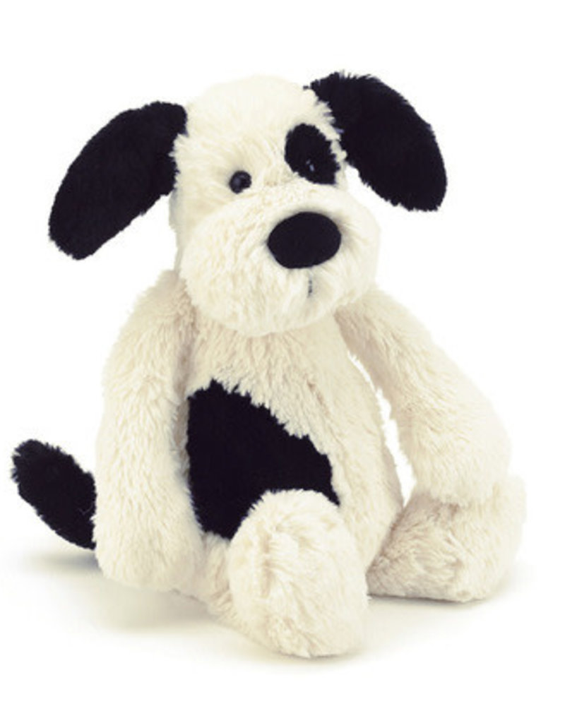 Jellycat Bashful Black/Cream Puppy