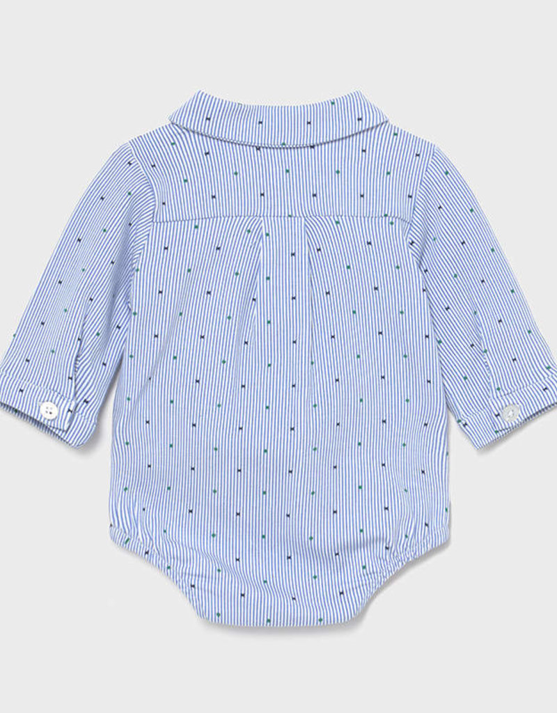 Mayoral L/S Pin Stripe/Dot Bodysuit